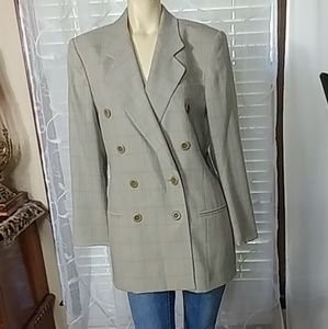 ESCADA Wool Blend Double Breast Pea Coat